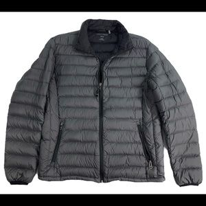Cole Haan M Gray Down Packable Puffer Coat